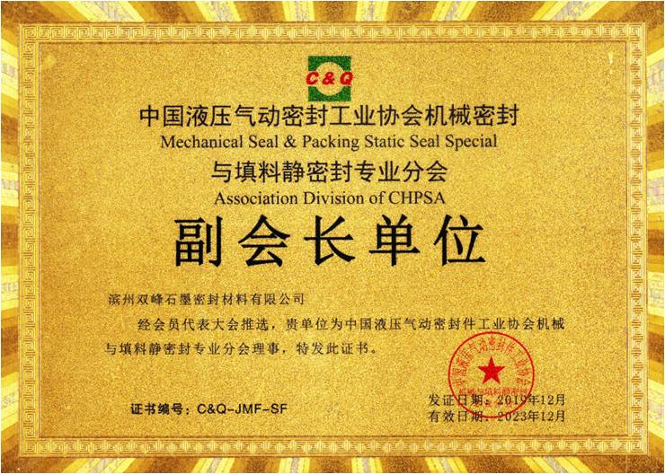 Mechanical Seal and Packing Static Seal Special Association Division of CHPSA
