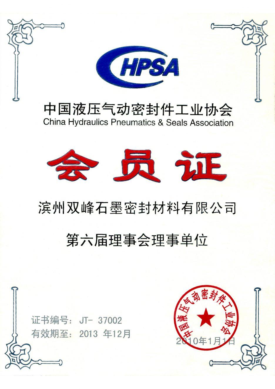 HPSA 会员证 Membership Certificate